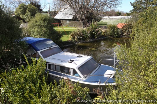 20150826a078 Holiday accommodation - Got family coming for the holidays? They could try something a bit different - and inexpensive - with this 30-foot self-contained boat on a peaceful rural property, just minutes from both Hastings and Havelock North. photograph