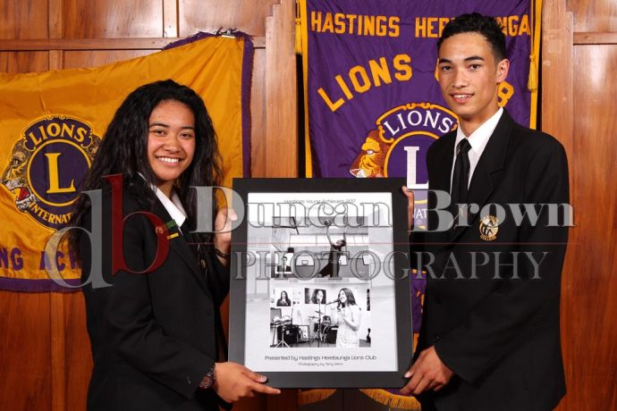 Hastings Heretaunga Lions Club Young Achievers 2017