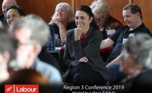 Social photos and formalities at a Labour Party conference in Hastings, with the highlight of a visi Prime Minister Jacinda Ardern